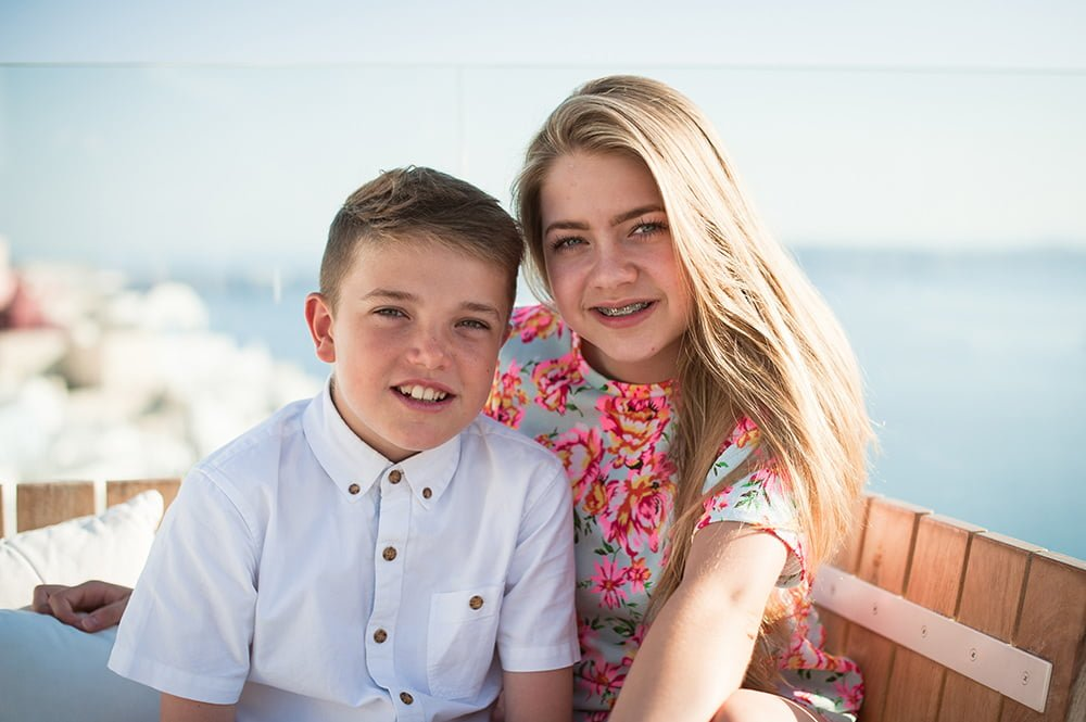 Photograph by New Forest Photographer of Brother and Sister at Family Event