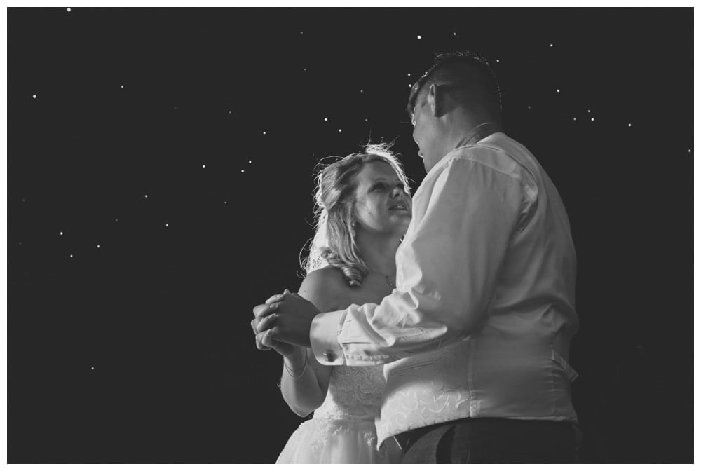 First dance at Balmer Lawn Hotel Marquee