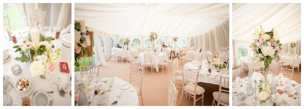 Venue decorations by Jennifer Poynter Flowers at Balmer Lawn Hotel