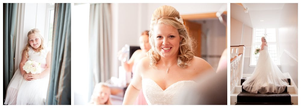 Excited photos of bride before ceremony