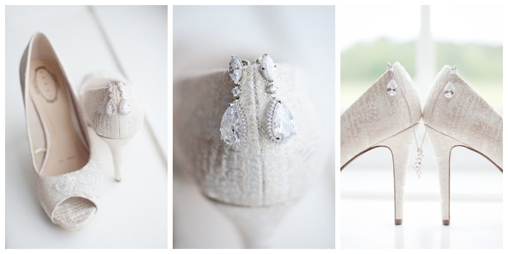 Brides heels and jewellery