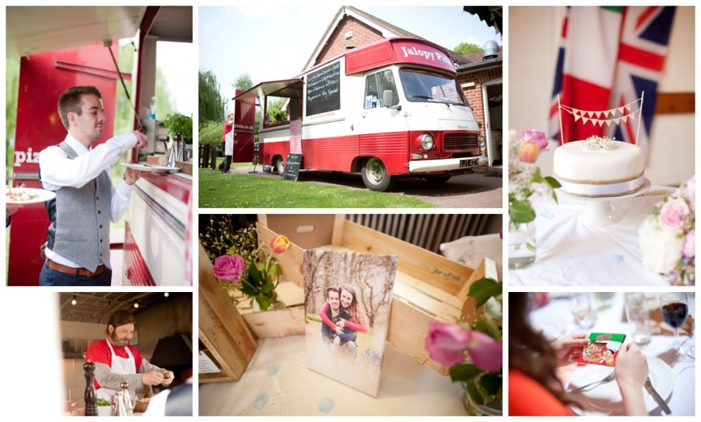 Jalopy Pizza Van, cake and decor at Damerham Village Hall