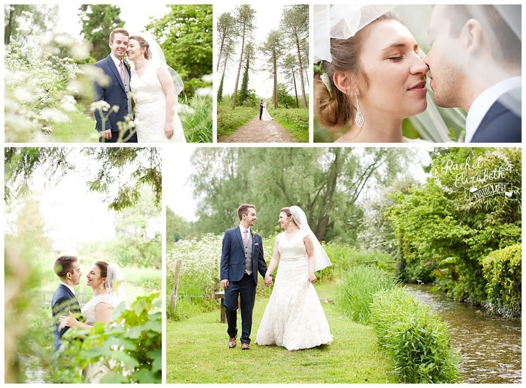 Bride and Groom at Damerham Village Hall