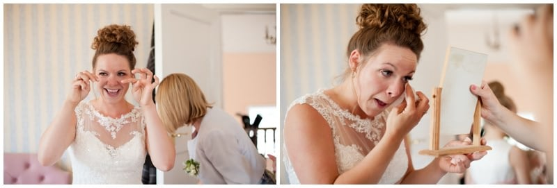 Ringwood Bride emotional before wedding