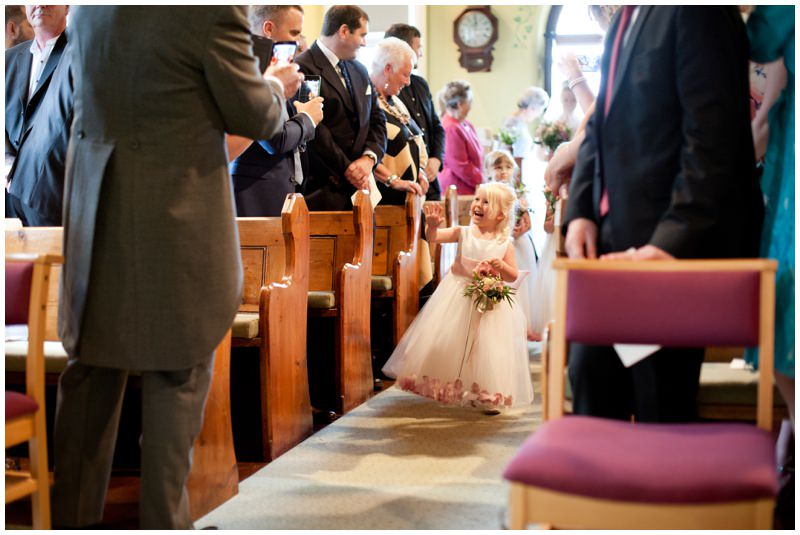Photography of Flowergirl at Crowe Hill Church