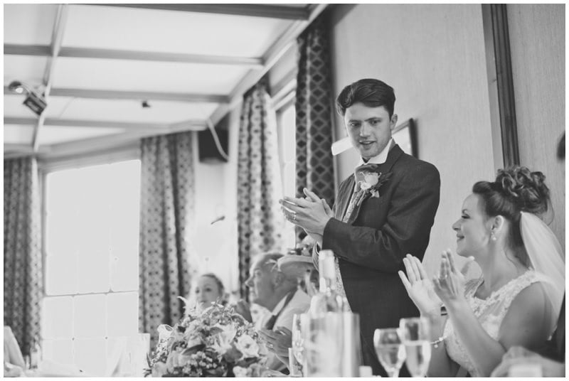 Groom's speech at Ringwood wedding
