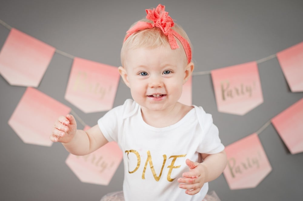 Pink Photoshoot for Baby Girl's 1st Birthday