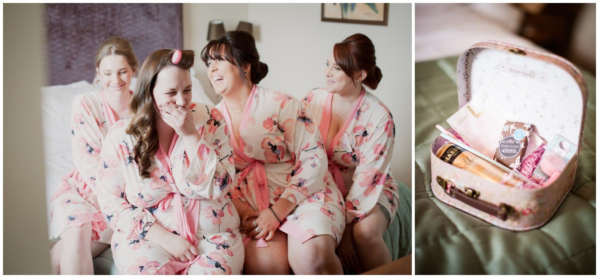 Bridesmaids at Christchurch Harbour Hotel