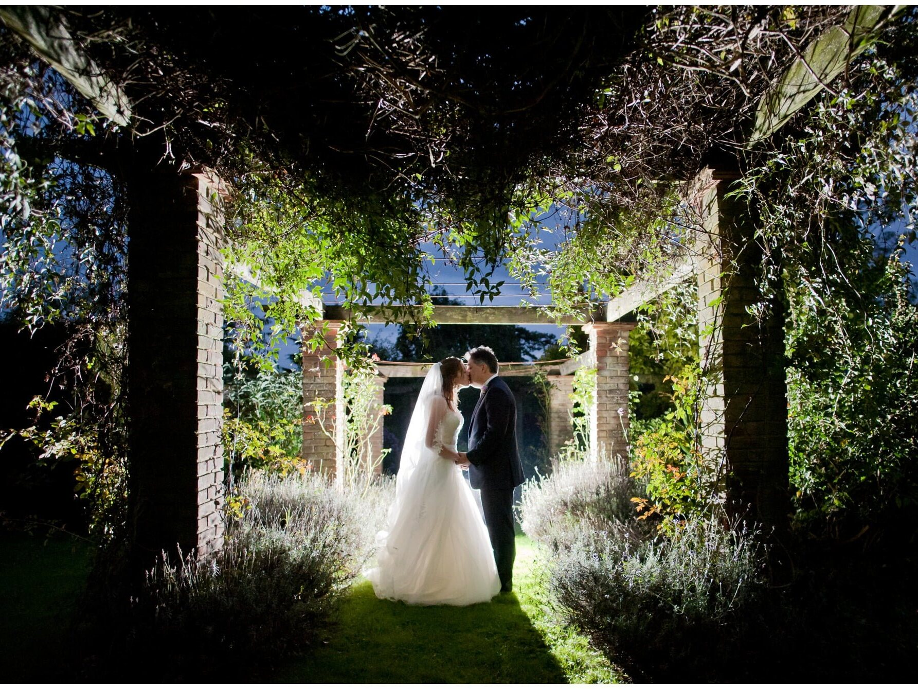 OCF Backlit Wedding Photograph
