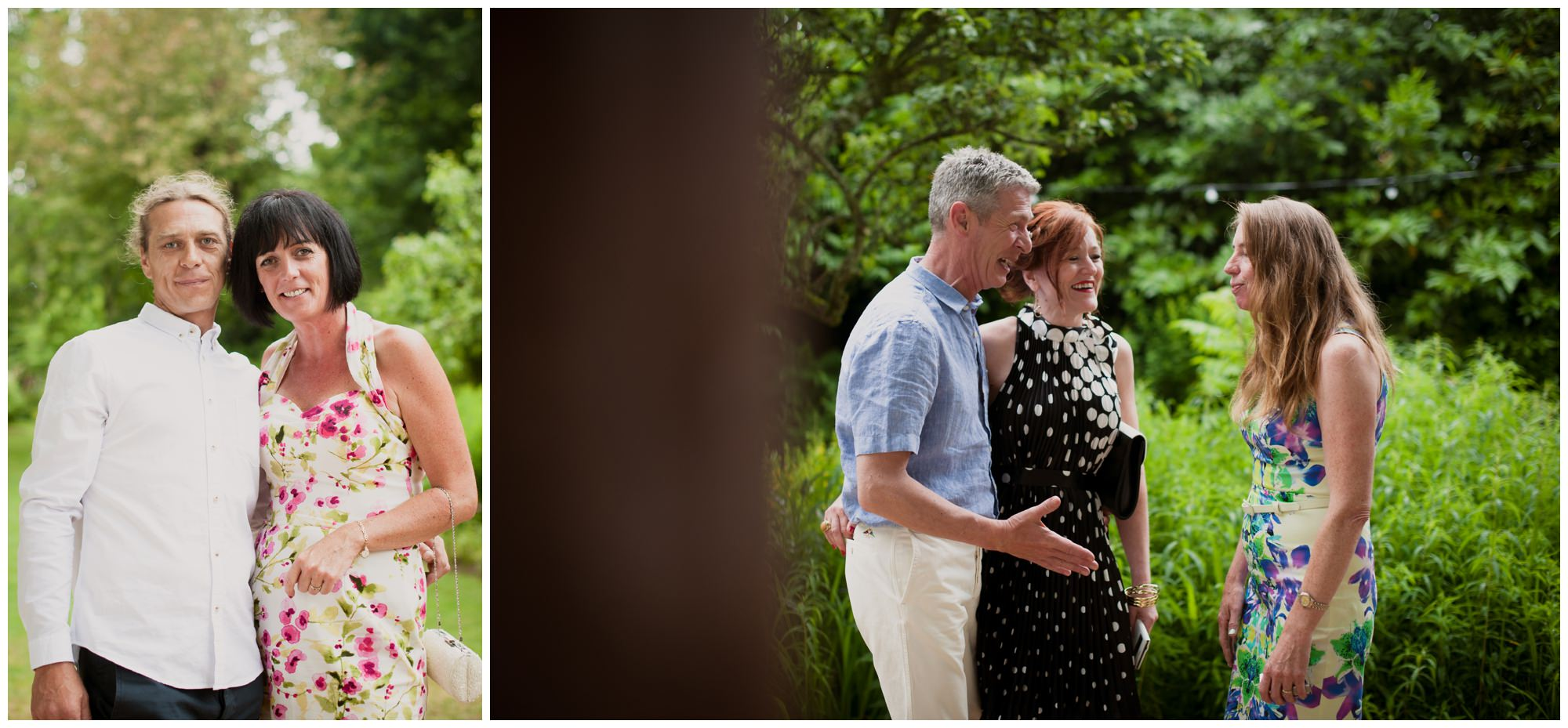 Photography of dorset wedding guests