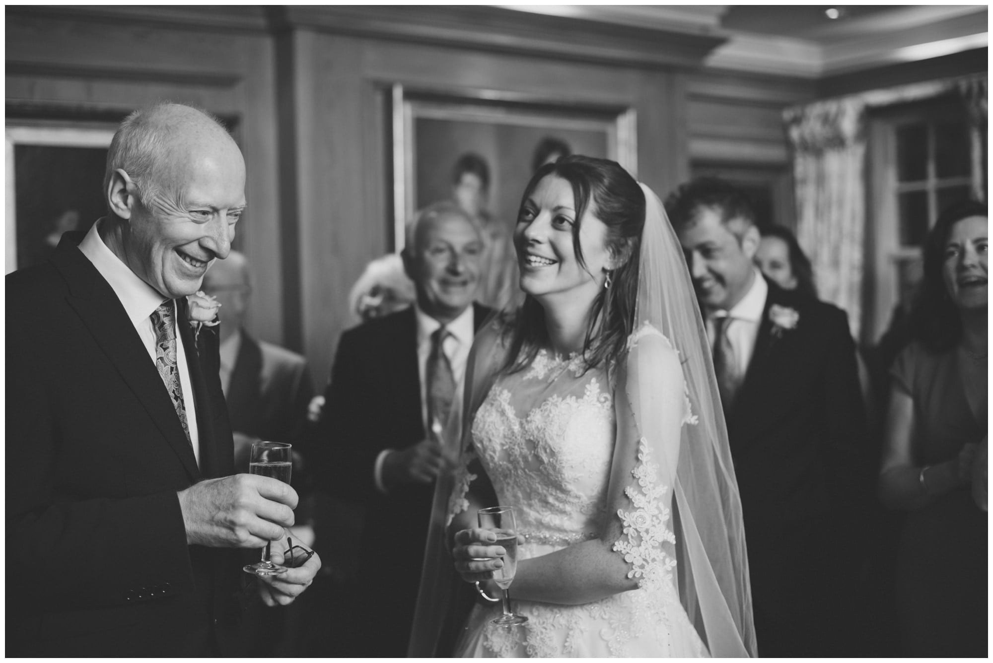 Bride and Father at Roundwood Estate