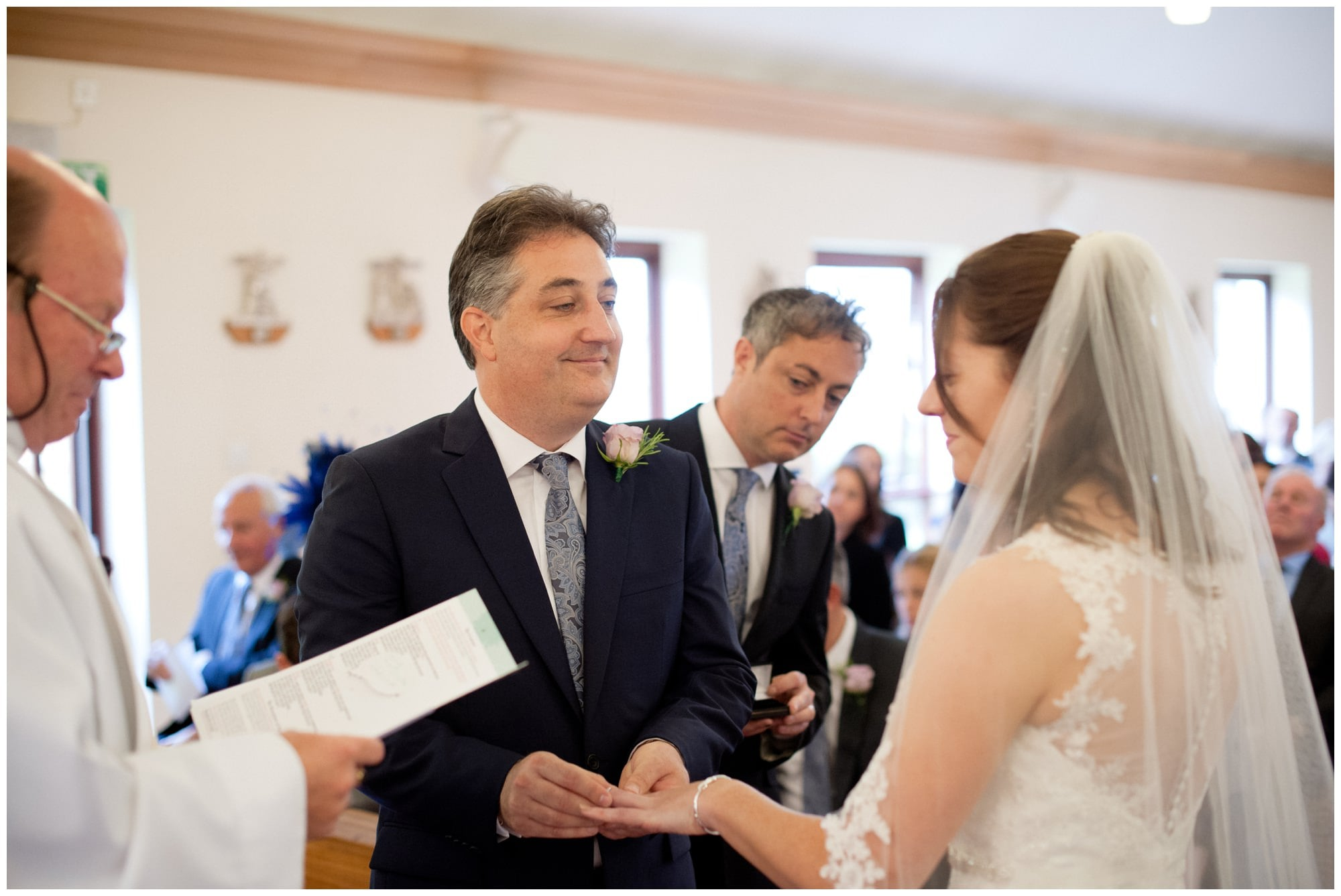 Exchanging Rings at Whitchurch Wedding