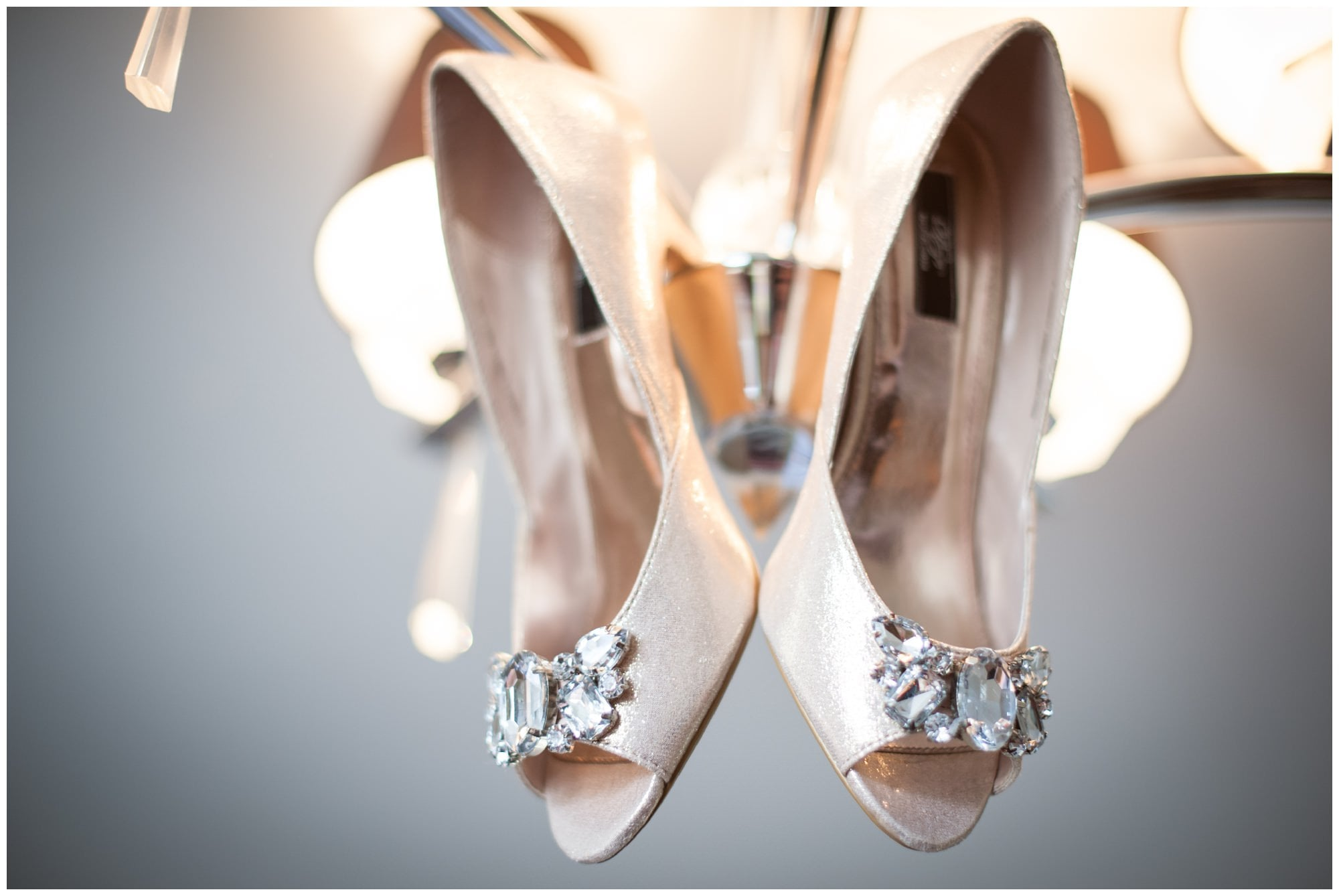 Bridal shoes at Christchurch Harbour Hotel
