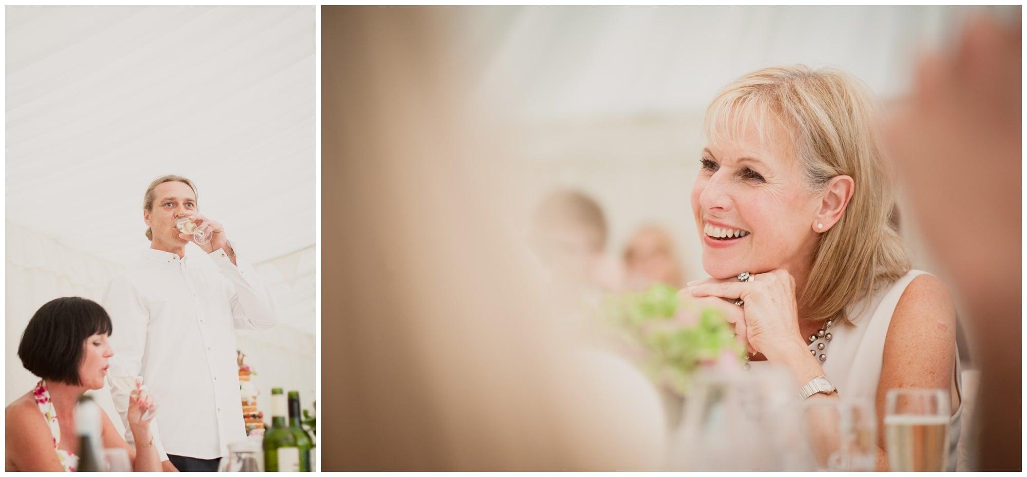 Speeches at Christchurch Marquee Wedding Reception