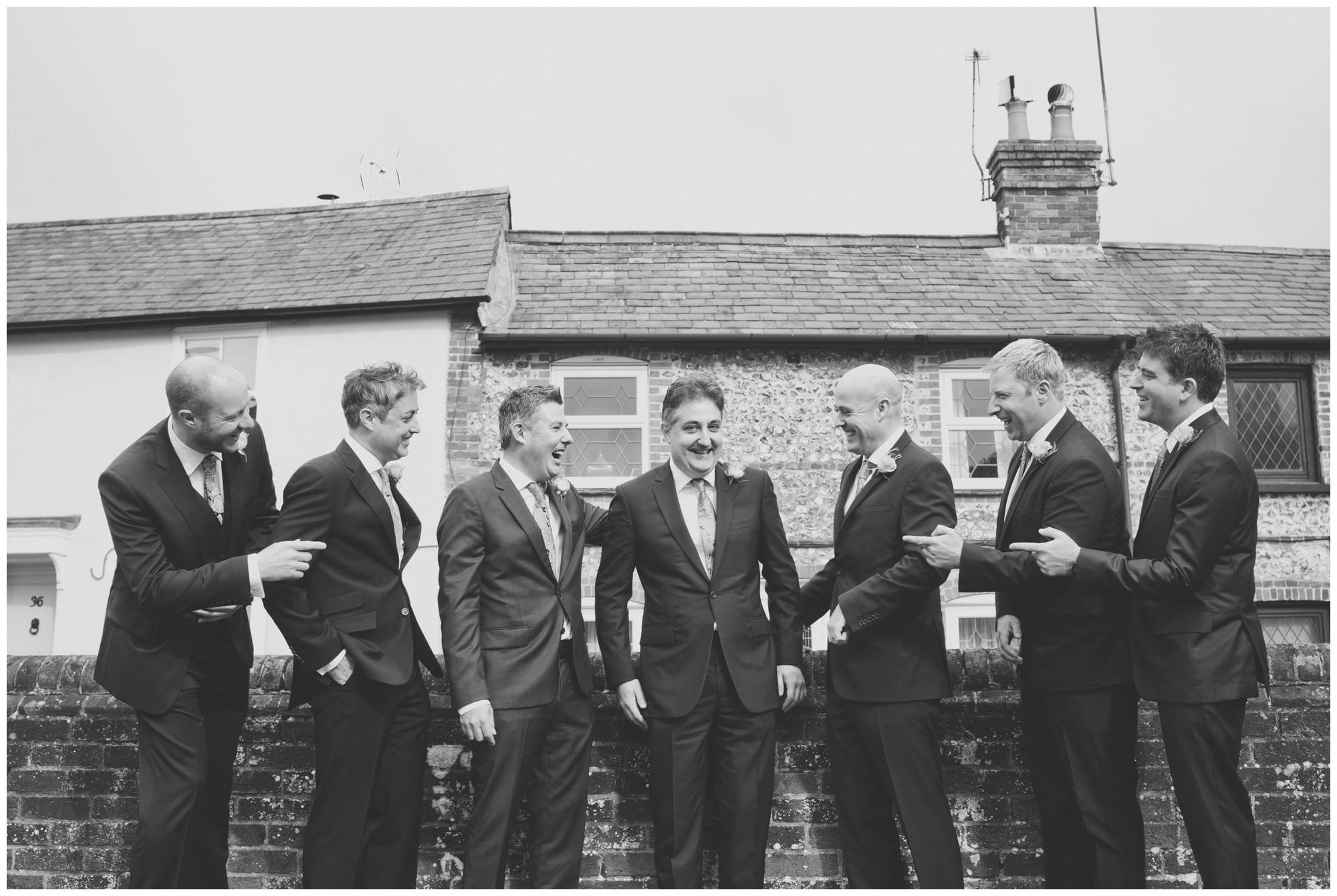 Groom and Ushers in Whitchurch
