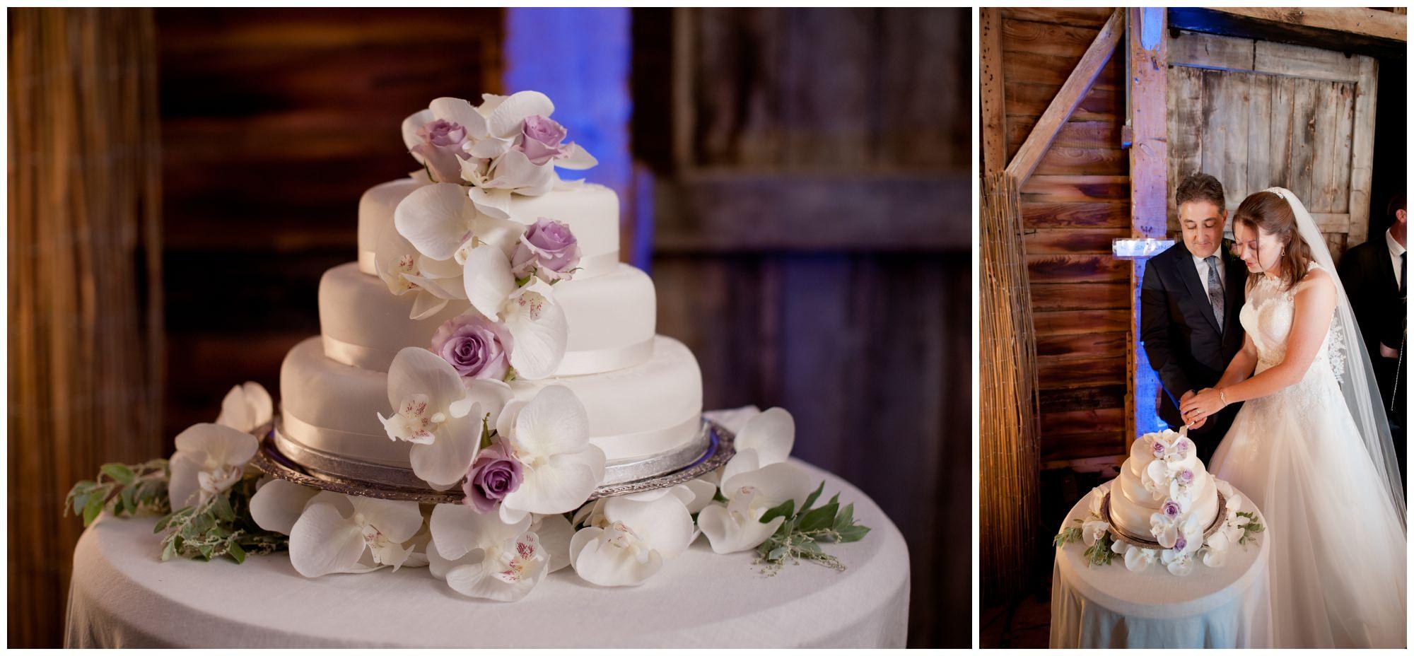 Cake Cutting at Hampshire Wedding