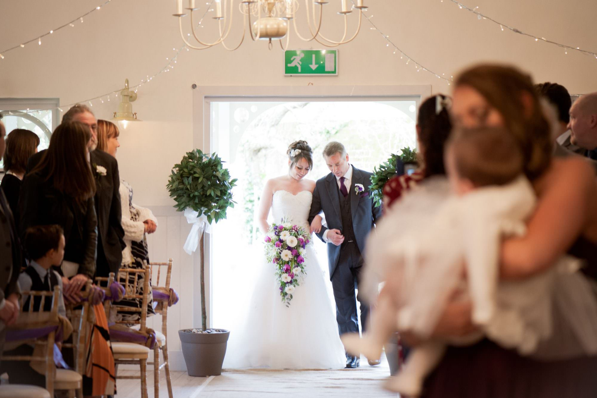 Bridal entrance at Kings Arms Hotel Wedding