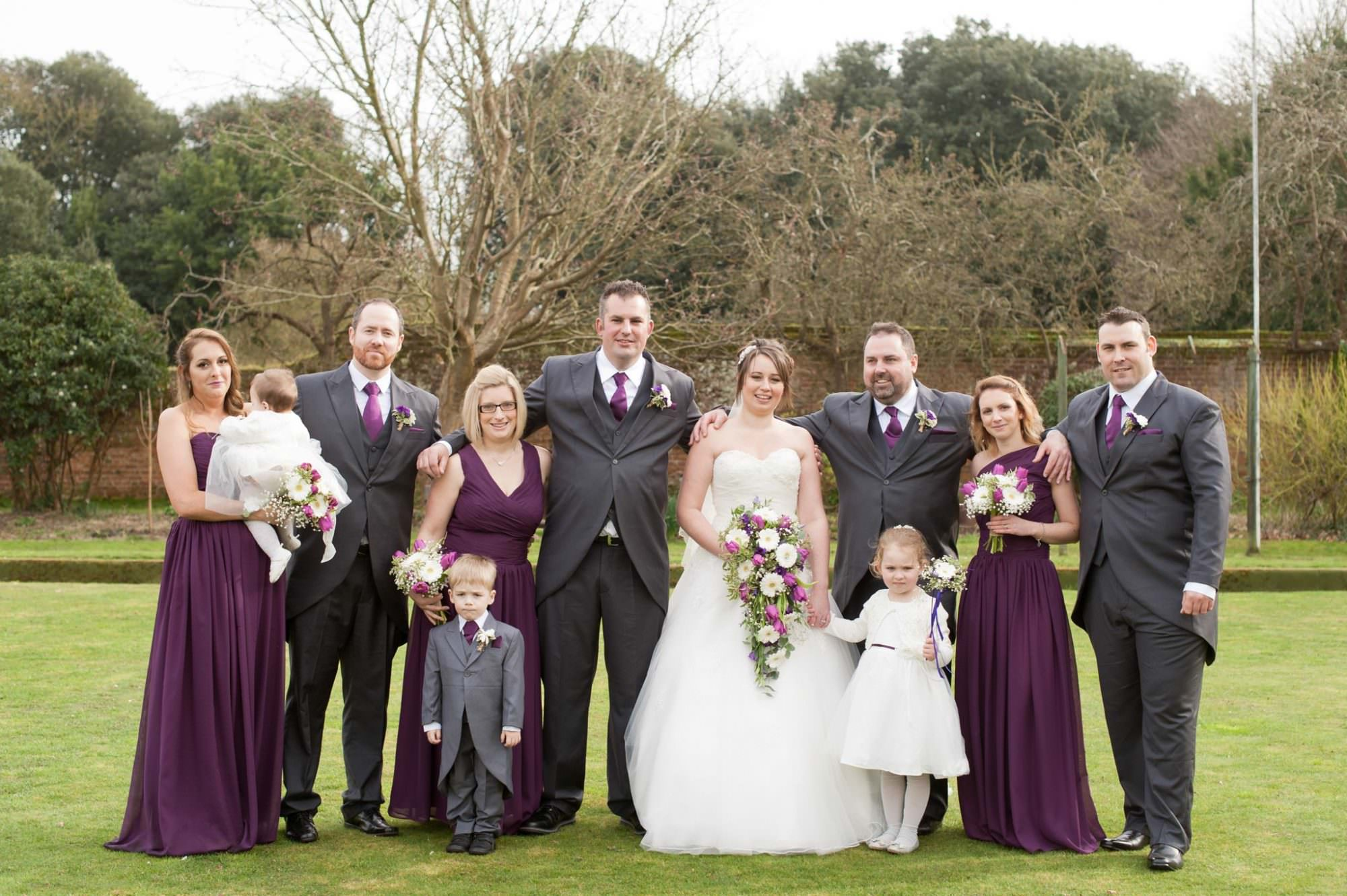 Bridal party at Kings Arms Hotel Wedding