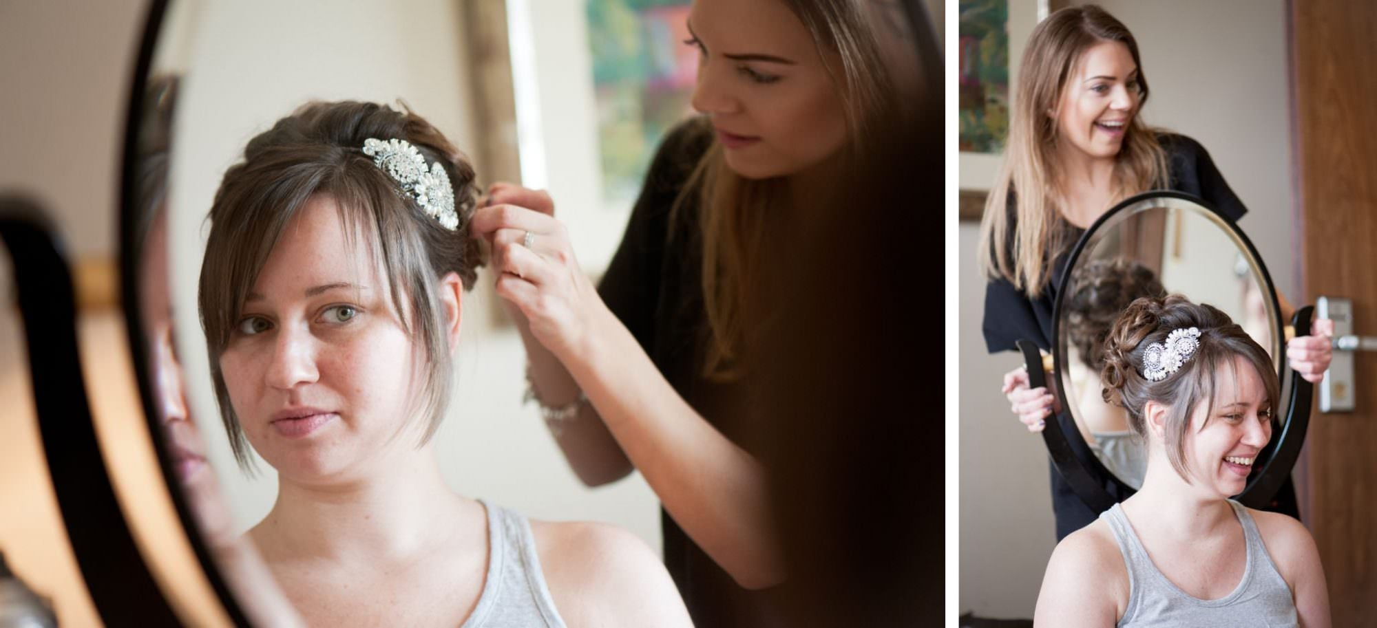 Bridal hair at Kings Arms Hotel