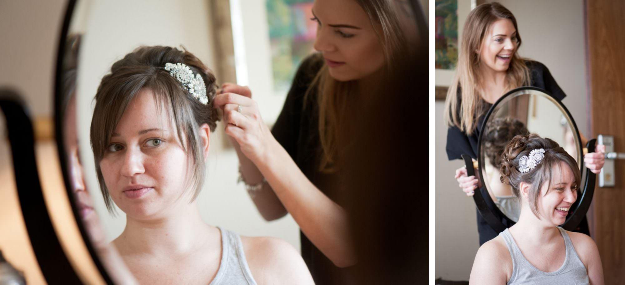 Bridal hair at Kings Arms Hotel