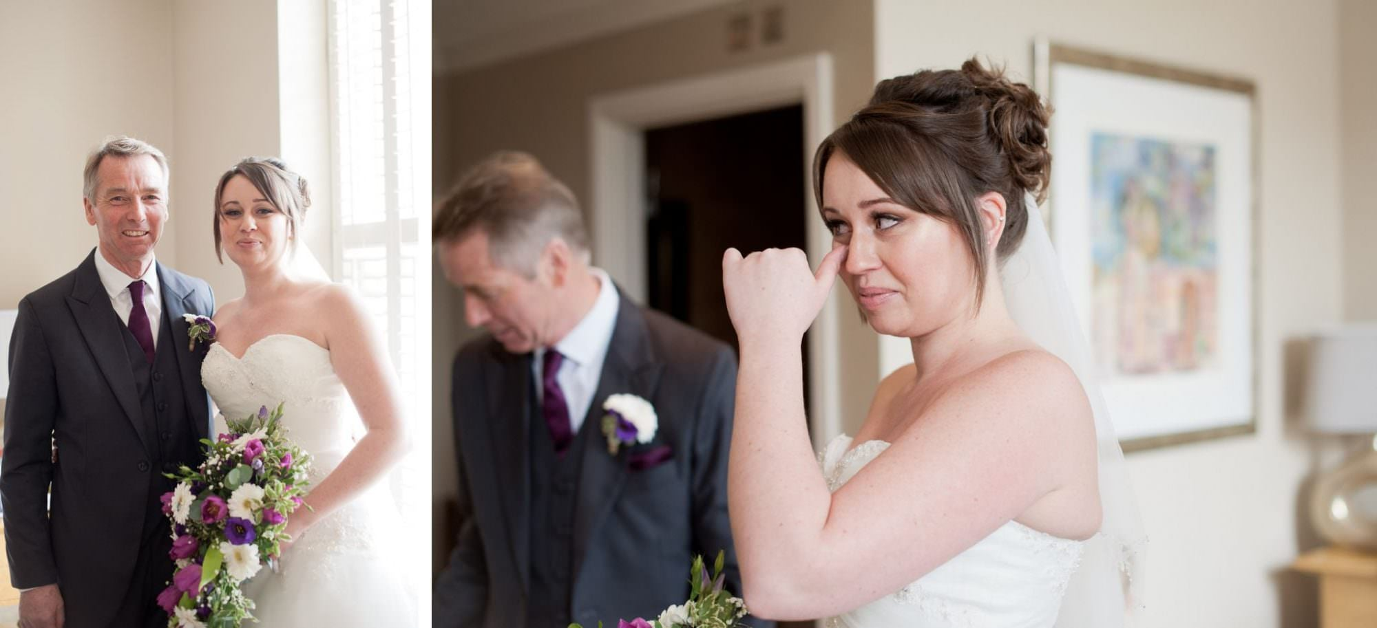 Bride and Father at Kings Arms Hotel Wedding