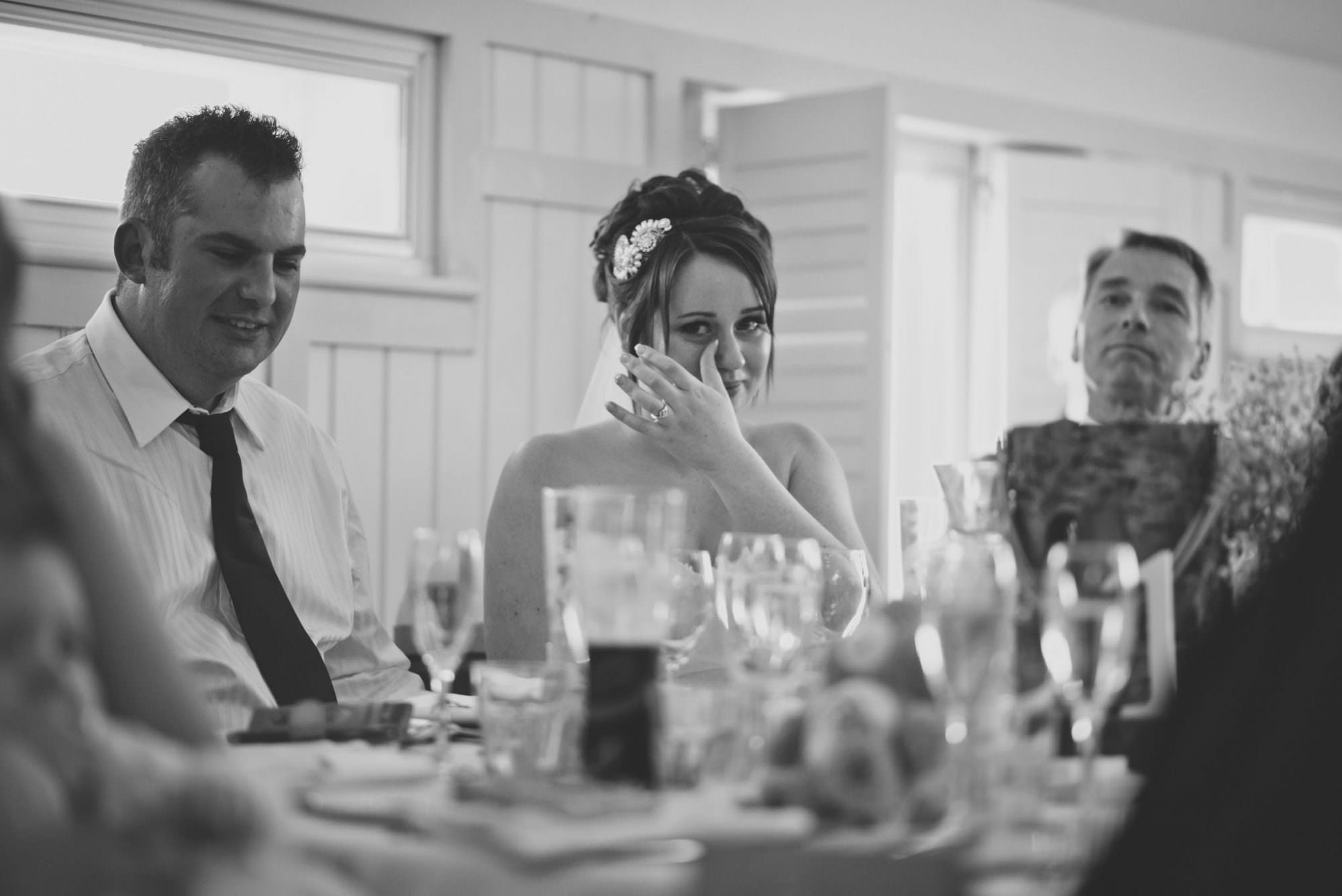 Happy Tears at Kings Arms Hotel Wedding