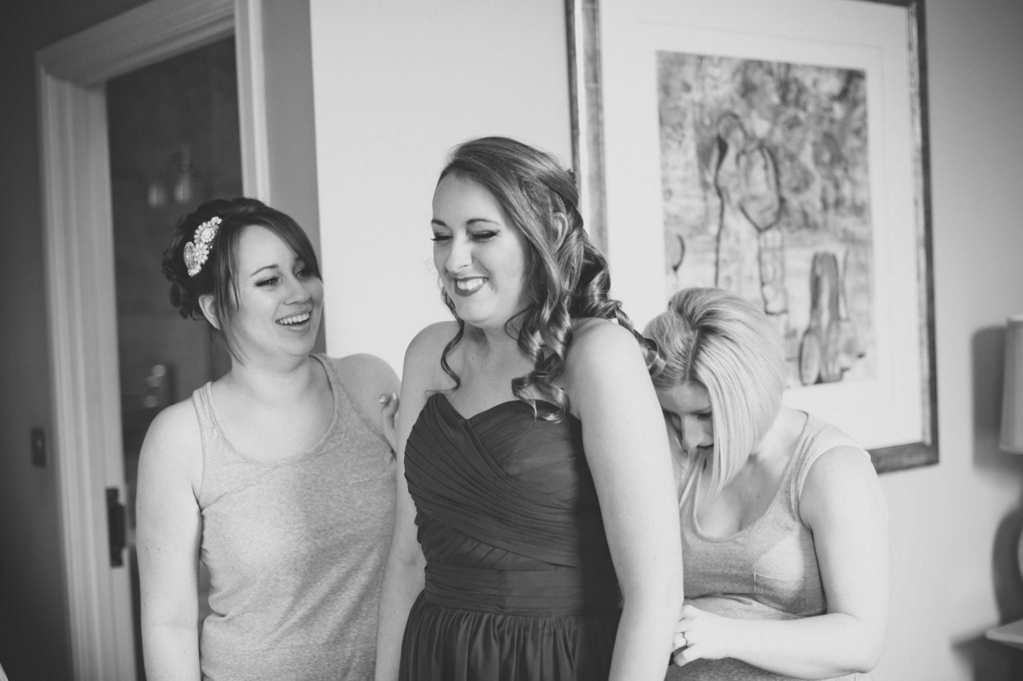 Bridesmaids at Kings Arms Wedding