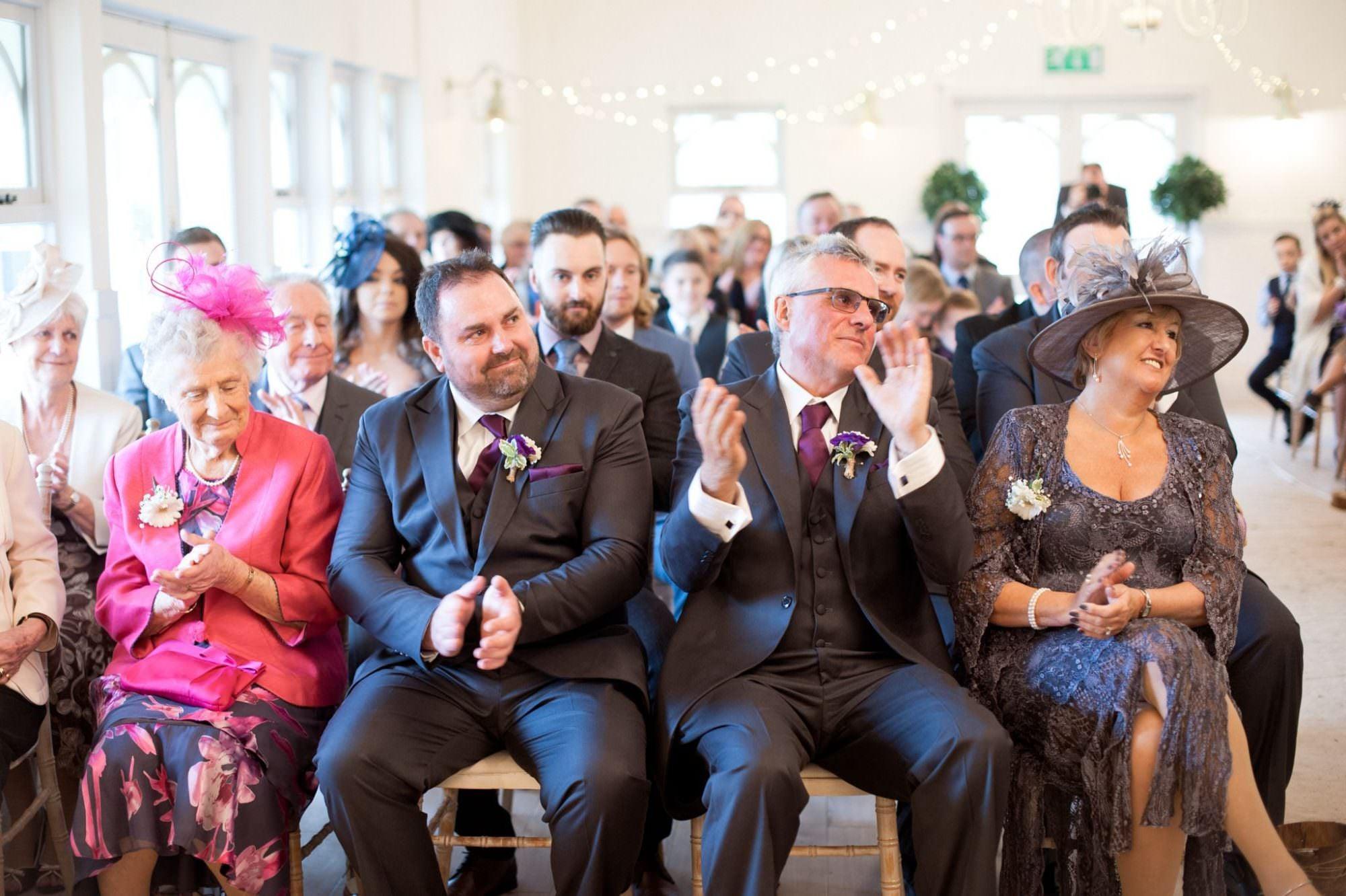 Happy family at at Kings Arms Hotel Wedding