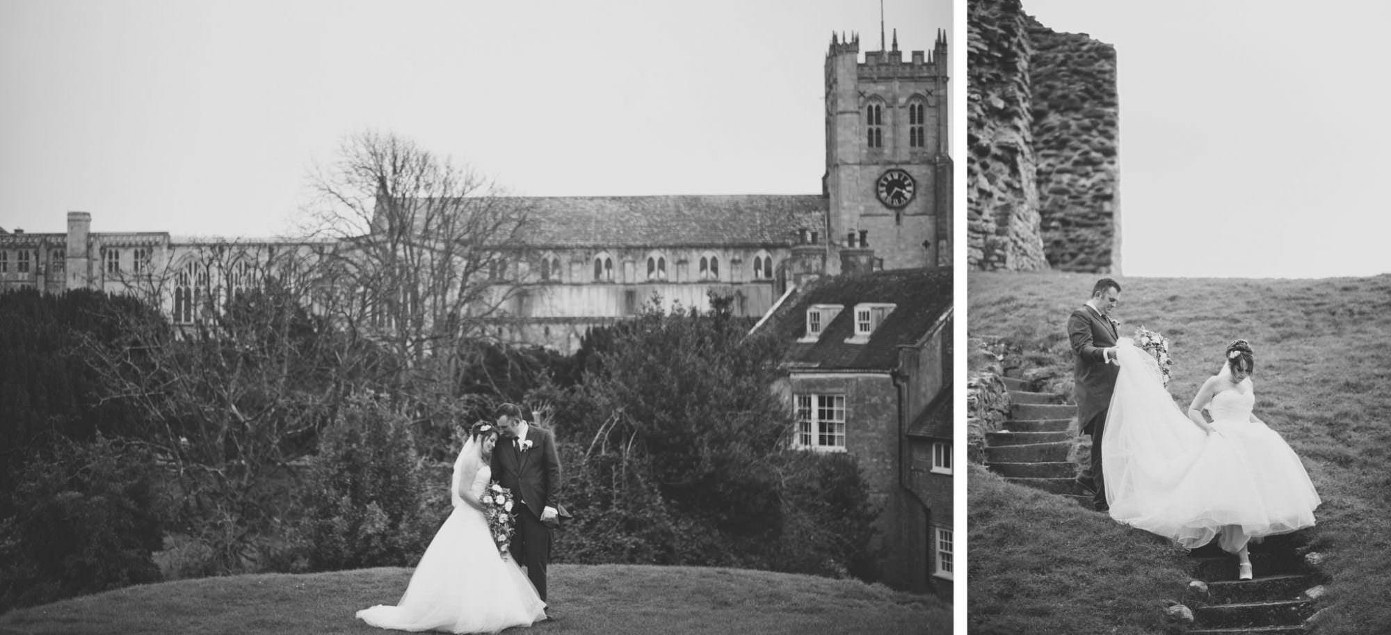 Black and White Photos at Christchurch Wedding
