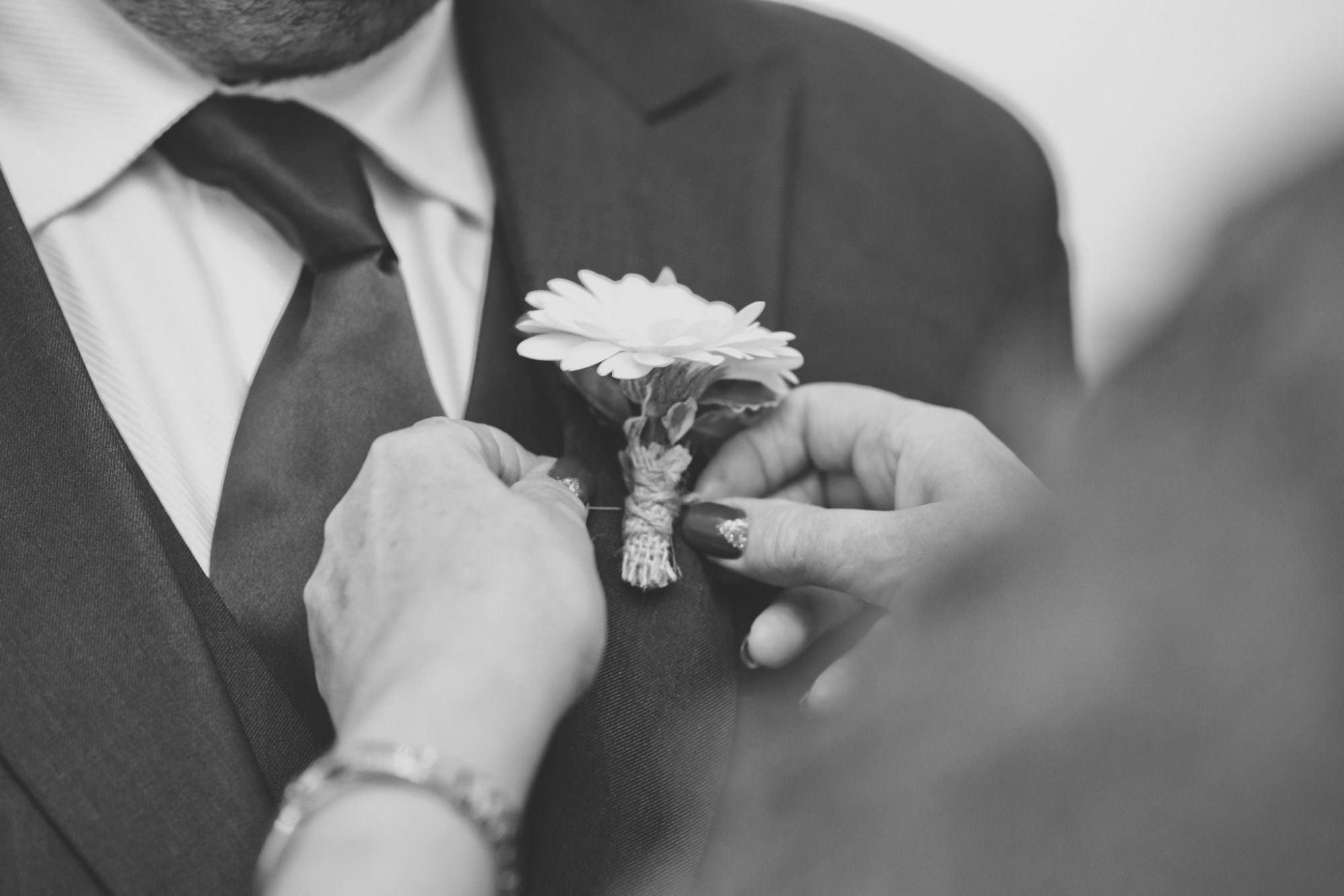 Buttonhole at Dorset Wedding