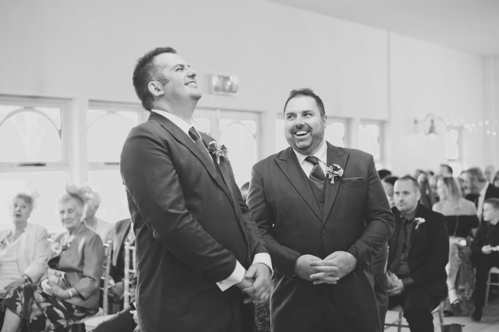 Groom and Bestman at Kings Arms Hotel