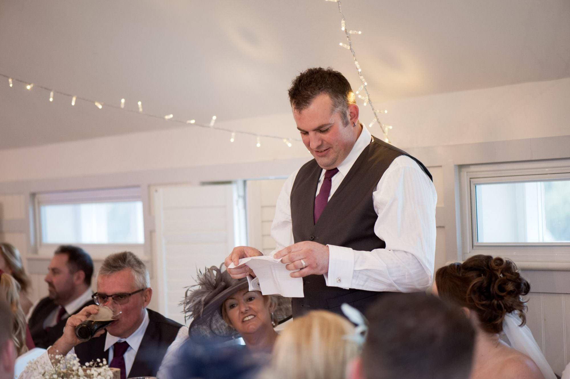 Groom's speech at Kings Arms Hotel Wedding