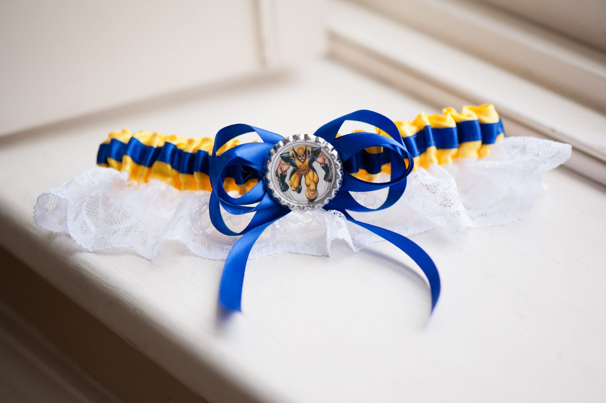 Handmade Marvel Wolverine Wedding Garter