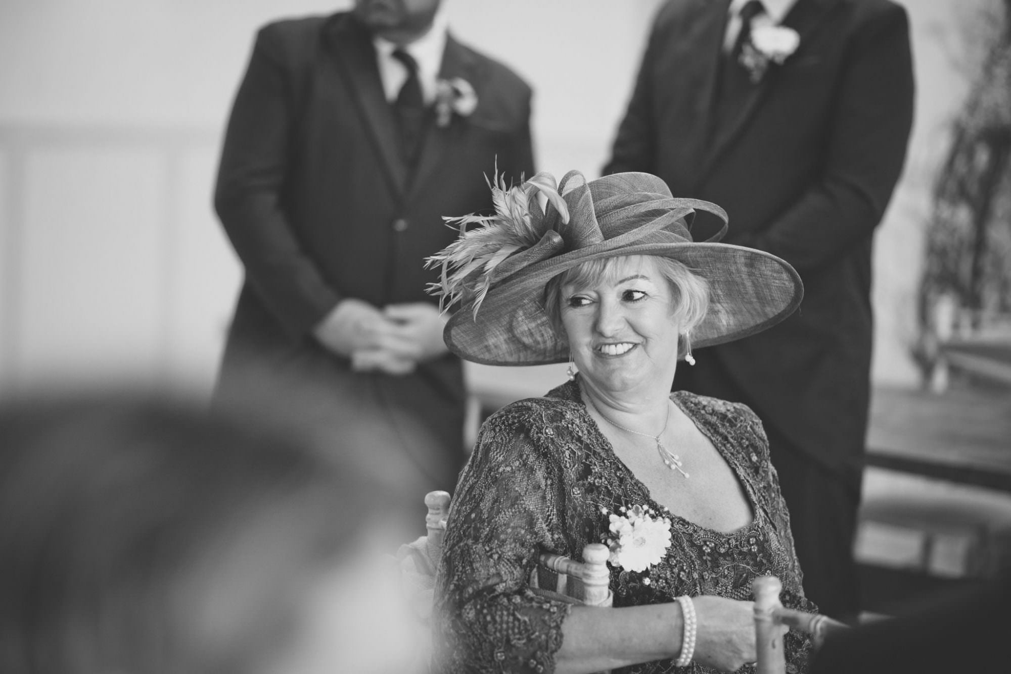 Mother of groom at Kings Arms Hotel Wedding