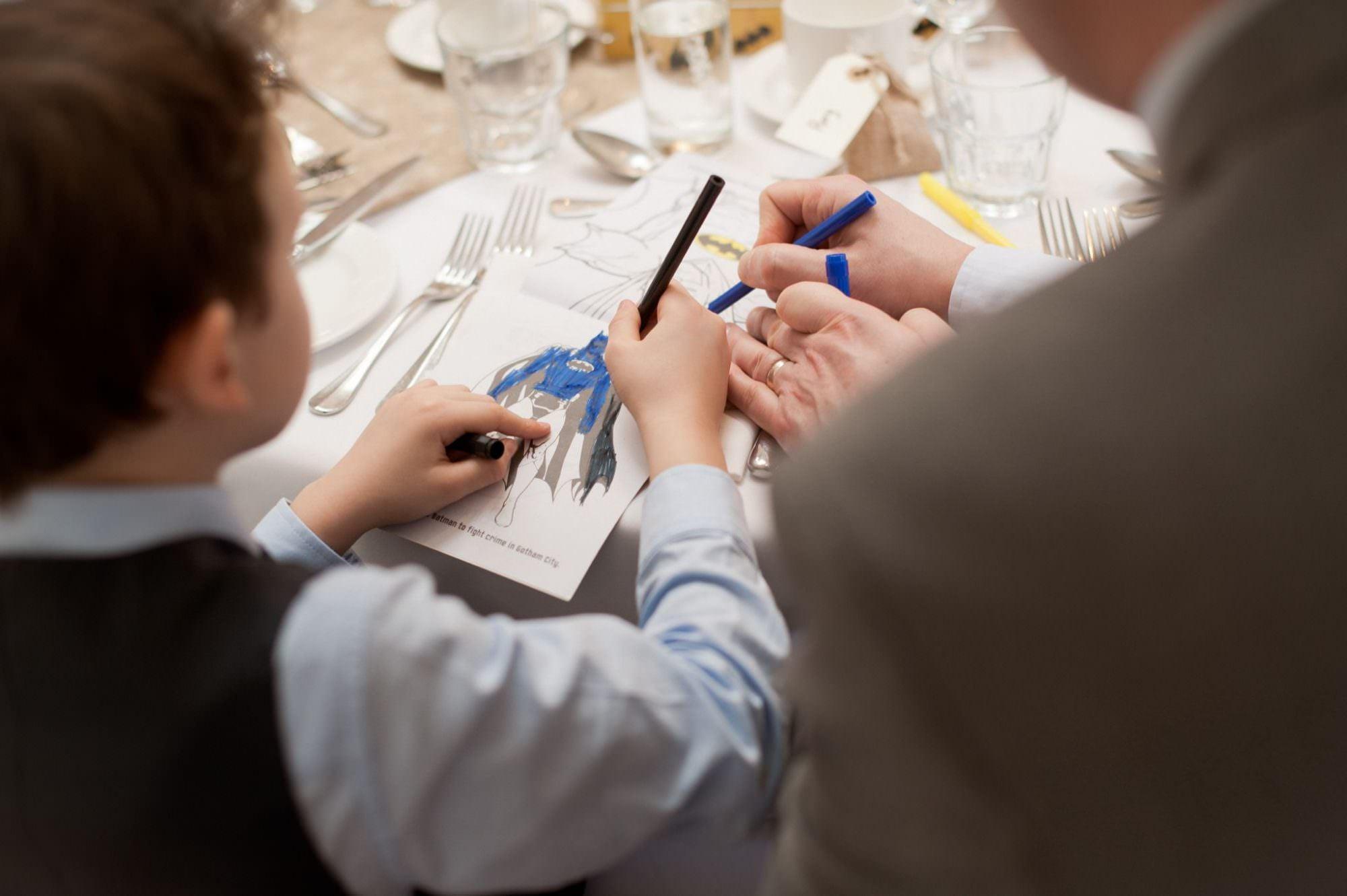 Children Colouring Book at Wedding