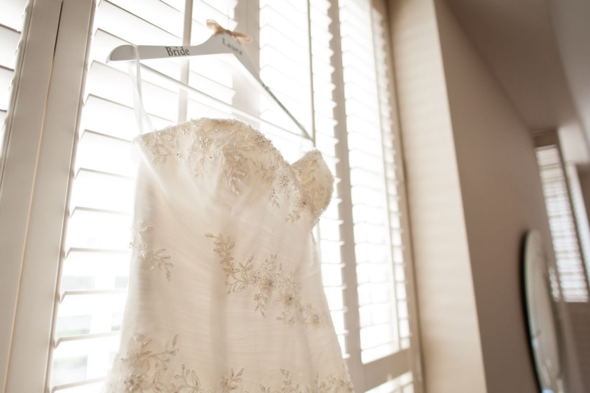 Wedding dress at Kings Arms Hotel Wedding