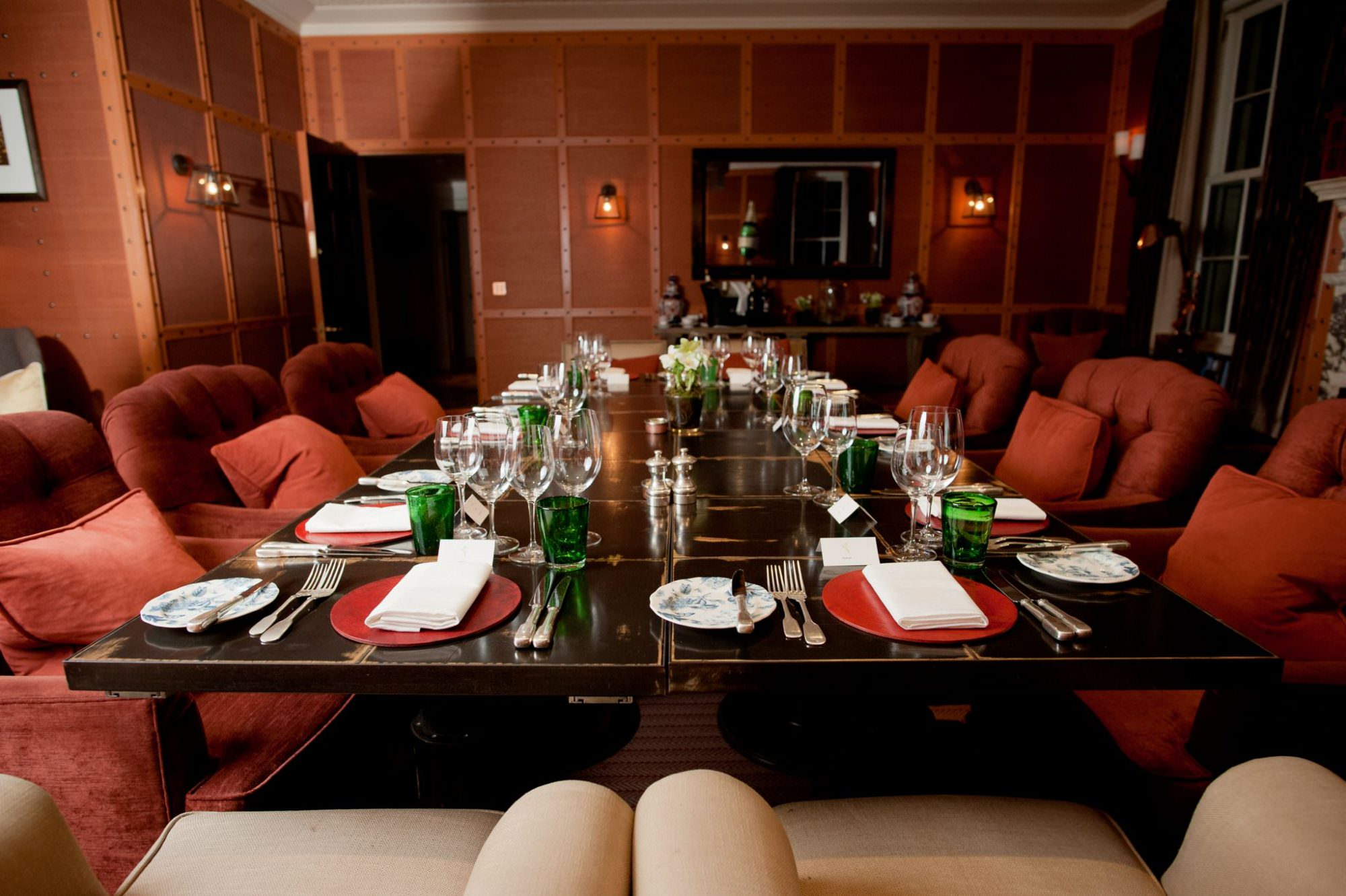 Private Dining in the Limewood Hotel Study