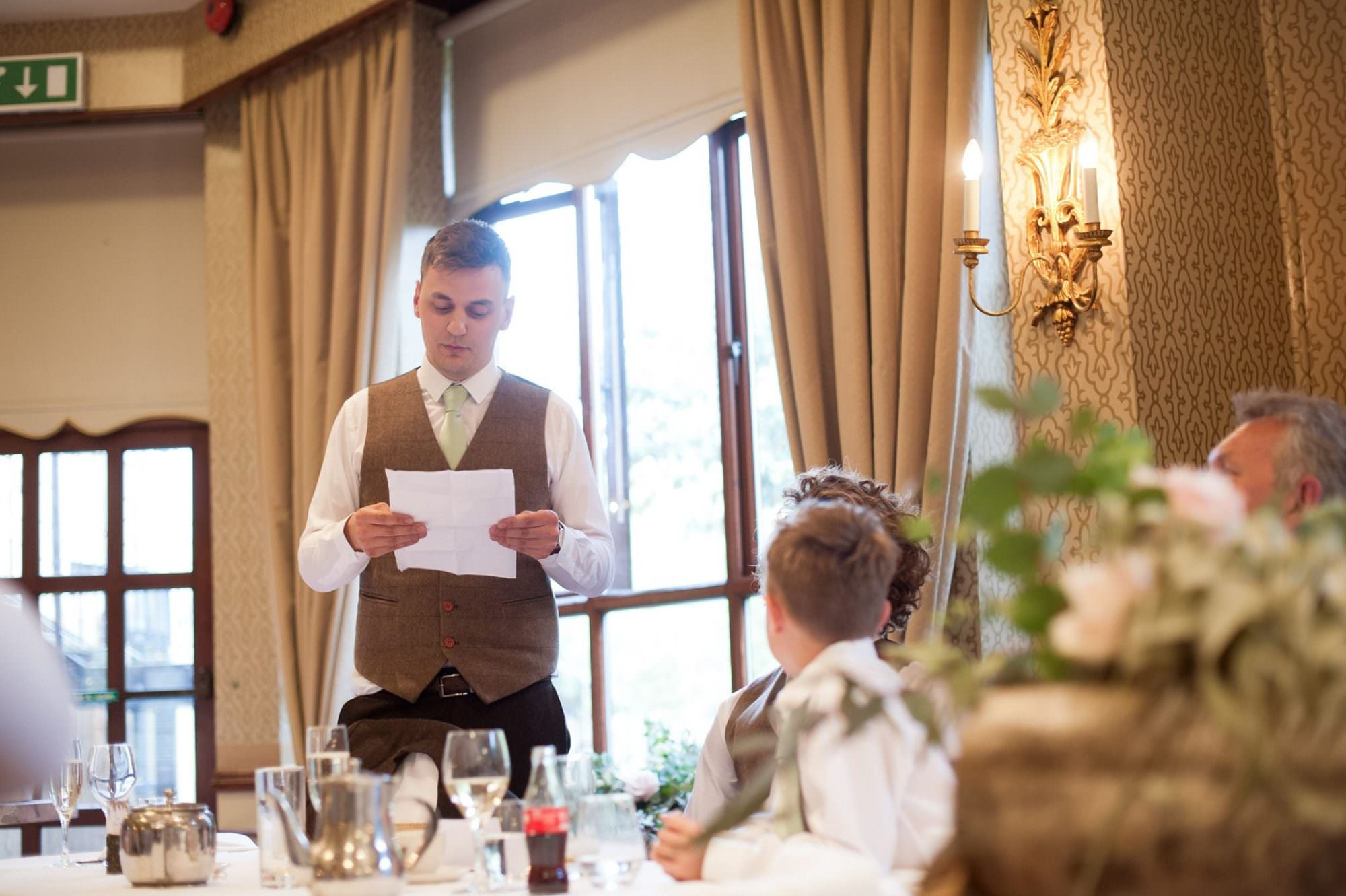 Speeches at New Forest Hotel