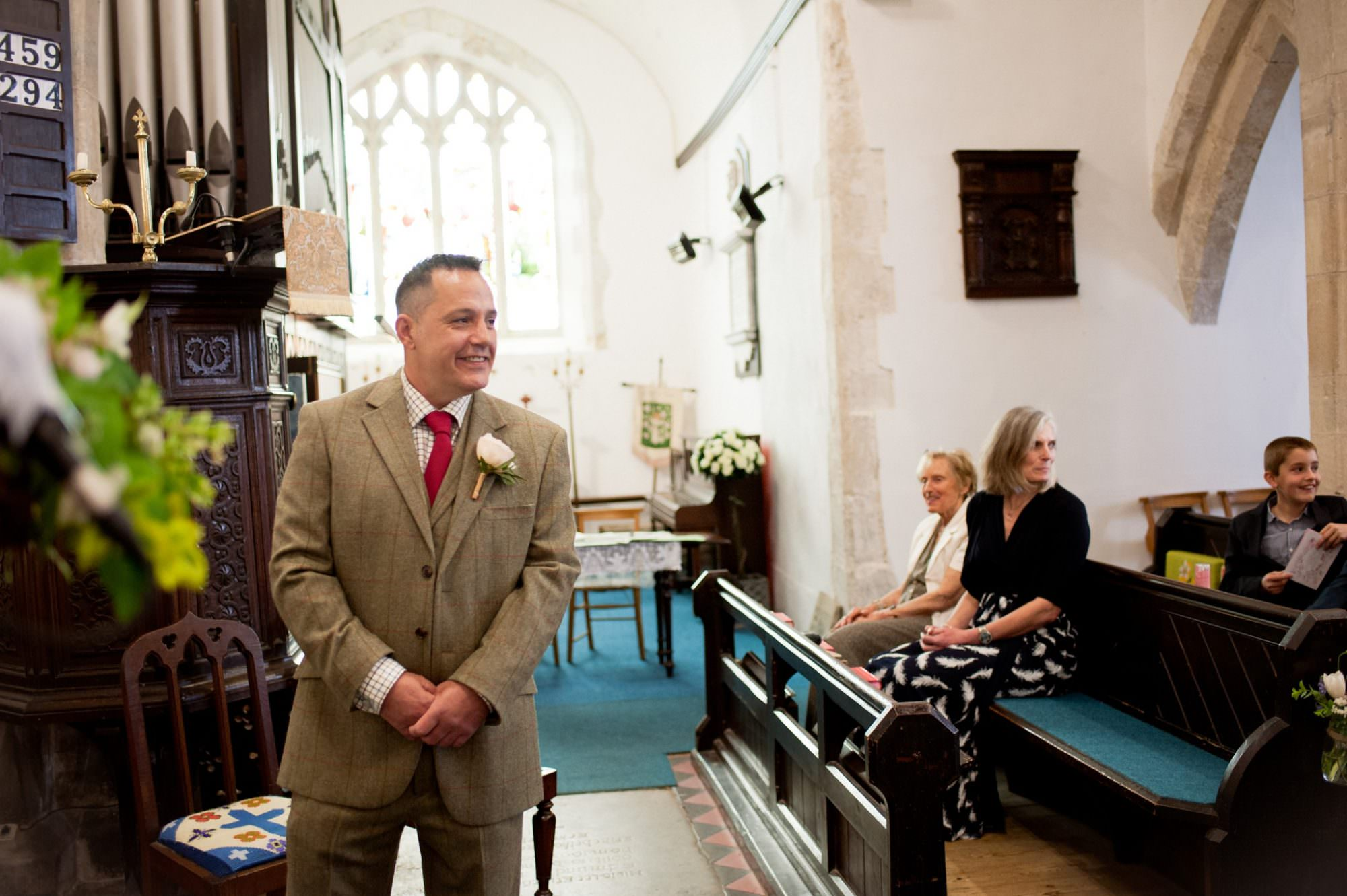 Sopley Church Groom Waiting