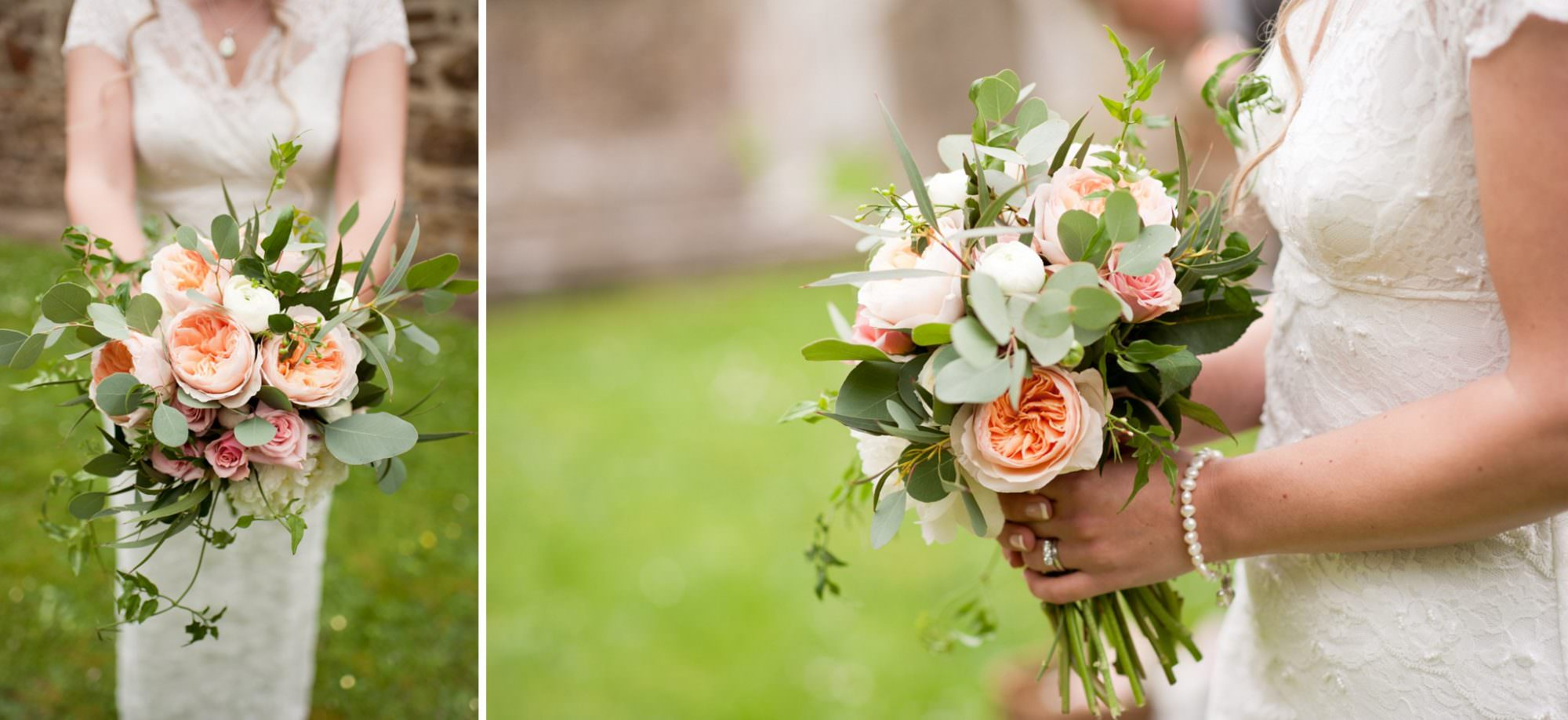Bridal bouquet at Sopley Church