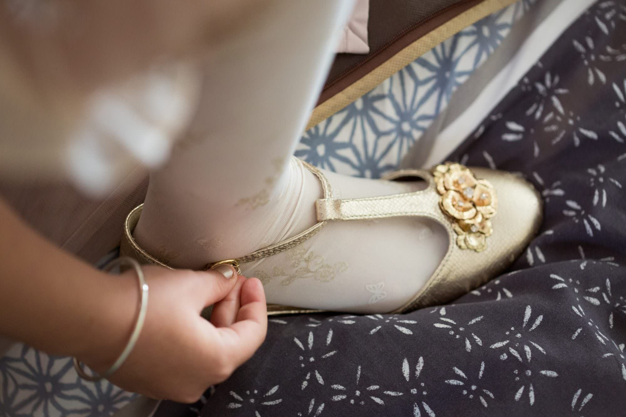Gold Junior Bridesmaid Shoes