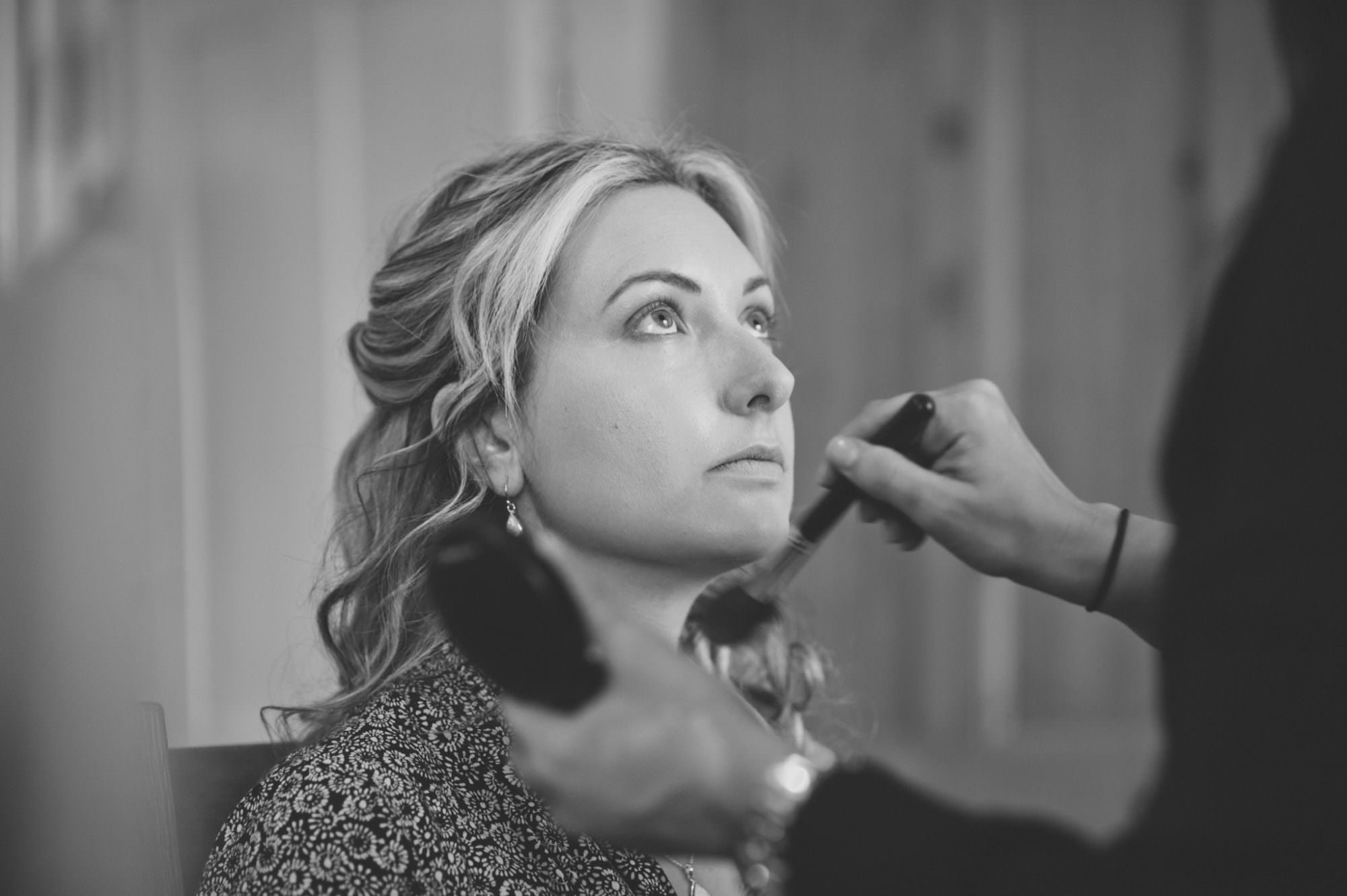 Black and white photograph of Hampshire Wedding MUA