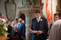 Best man at Canford magna church wedding