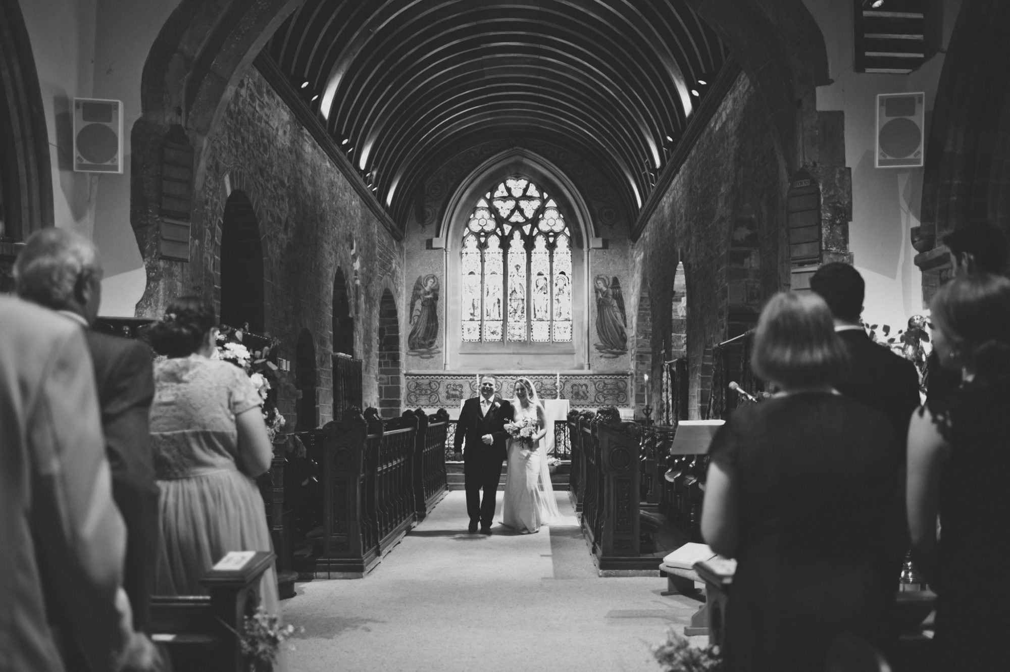 Canford magna church wedding bride and groom