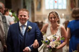 Couple married at Canford magna church