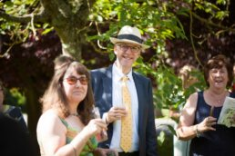 Guests at Canford magna church wedding