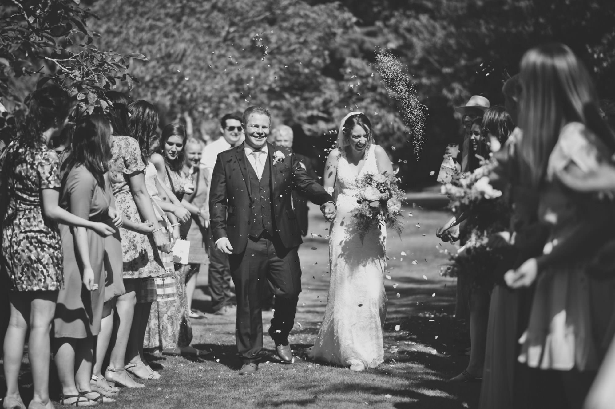 Confetti at Canford magna church wedding