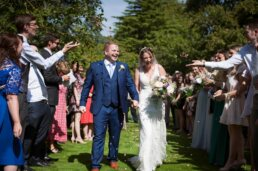 Confetti at Canford magna church