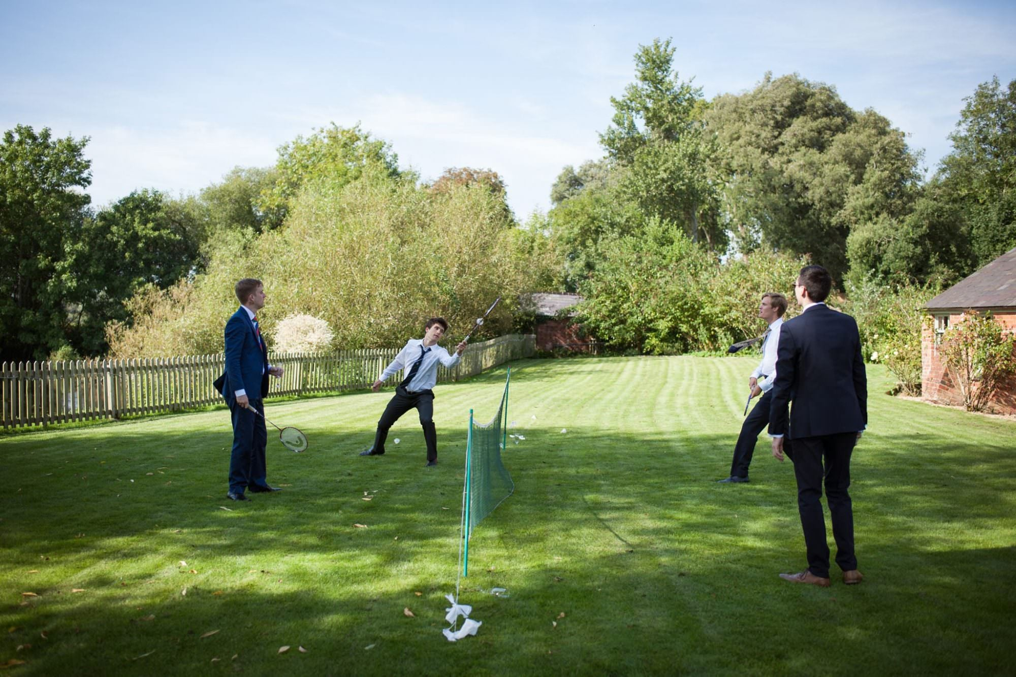 Lawn games at Sopley Mill wedding