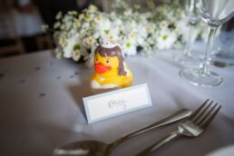 Dorset Bride's rubber duck at Sopley Mill